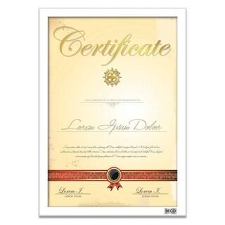 """SECO 25mm Mitred Certificate Frame, 8.5"""" x 11"""", White (SN8511WHITE-CERT)"""