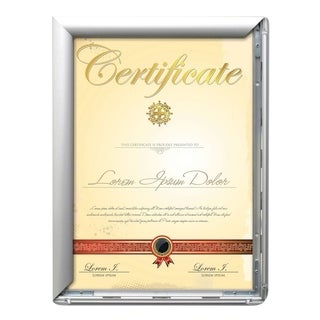 """SECO Front Load Easy Open 11"""" x 17"""" Diploma Frame, Silver (SN1117-SV-DIP)"""