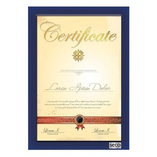 "SECO 25mm Mitred Certificate Frame, 8.5"" x 11"", Blue (SN8511BLUE-CERT)"