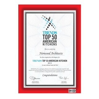 "SECO 25mm Mitred Diploma Frame, 11"" x 17"", Red (SN1117RED-DIP)"