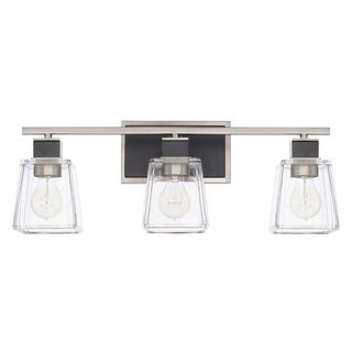 Capital Tux 3-light Black Tie Bath/Vanity Fixture