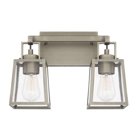 Kenner 2-light Antique Nickel Bath/Vanity Fixture - Antique Nickel