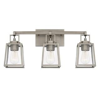 Capital Kenner 3-light Antique Nickel Bath/Vanity Fixture