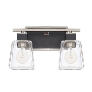 Capital Tux 2-light Black Tie Bath/Vanity Fixture