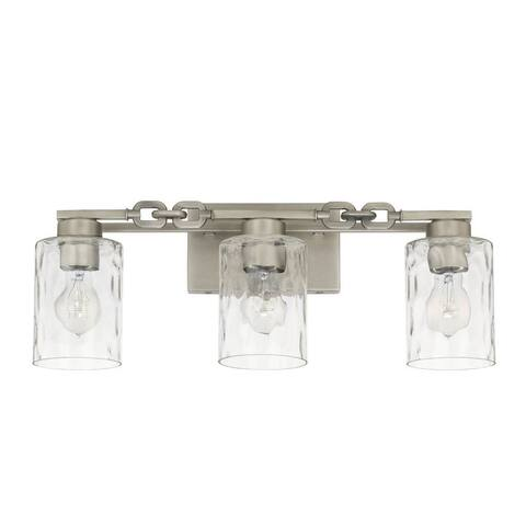 Wallace 3-light Antique Nickel Bath/Vanity Fixture - Antique Nickel