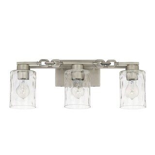 Capital Wallace 3-light Antique Nickel Bath/Vanity Fixture