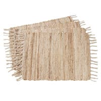 "Jute Chindi Braided Placemats (Set of 4) - 14""x20"""