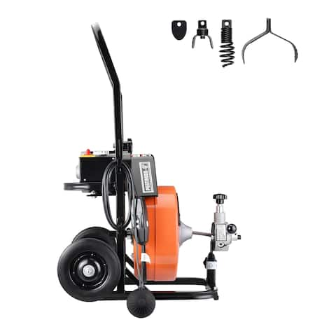 Drum Power Auger-1/2 Inch by 50 Ft. Electric Drain Cleaner Snake-Compact with Built-In GFCI Pentagon Tool