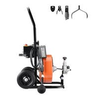 "Drum Power Auger-1/2"" by 50Ft Electric Drain Cleaner Snake-Compact with Built-In GFCI Pentagon Tool"