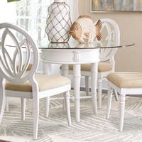 Isle of Palms Glass Top Dining Table by Panama Jack - Antique White