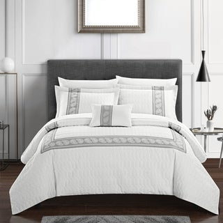 Link to Chic Home Mason 8 Piece Hotel Collection Applique Comforter Set Similar Items in Comforter Sets