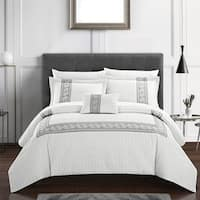 Chic Home Mason 8 Piece Hotel Collection Applique Comforter Set