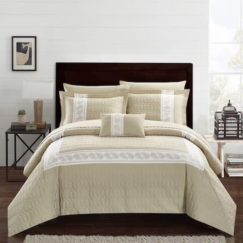 Chic Home Mason 8 Piece Hotel Collection Applique Comforter Set