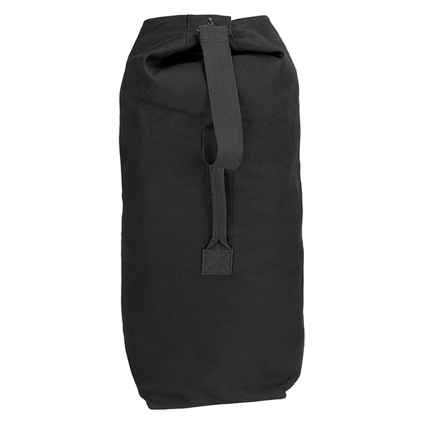 Shop Rothco Heavyweight Top Load Canvas Duffel Bag Black - Free ... c5cfcbae31aed
