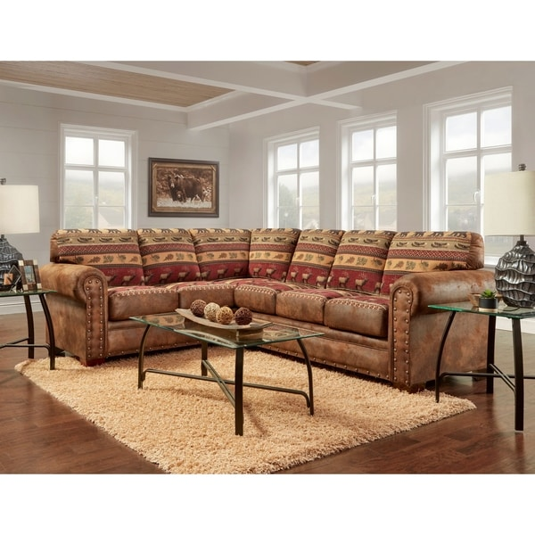 American Furniture Clics Model B1650k Sierra Lodge Two Piece Sectional Sofa