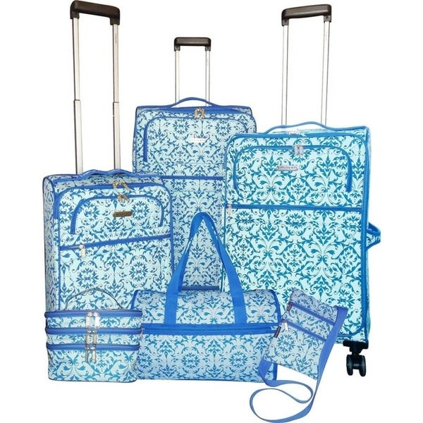 4cdde0c6c Shop Karriage-Mate Blue Rocco Medallion 6-piece Expandable Spinner Luggage  Set - Free Shipping Today - Overstock - 22747366