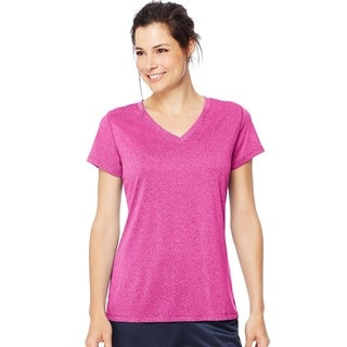 Hanes womens Heathered Performance V-Neck Tee (O9032)