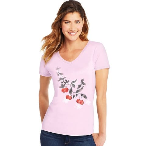 Hanes womens Short Sleeve V-Neck Tee (GT9337)