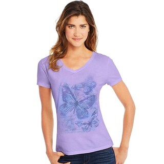 Hanes womens Short Sleeve V-Neck Tee (GT9337)