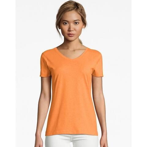 Hanes Womens X-Temp V-Neck T-Shirt (42V0)