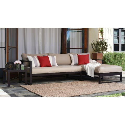 Serta Catalina Outdoor Sectional in Bronze