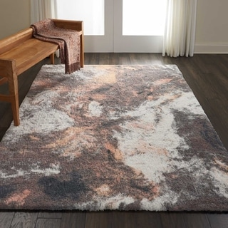 Nourison Hand-tufted Abstract Shag ABS05 Area Rug