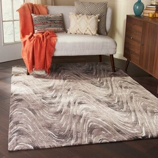 Studio NYC Design Current Charcoal Area Rug by Nourison - 5' x 7'