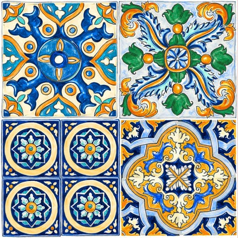 "Con-Tact Brand Floor Adorn Adhesive Decorative and Removable Vinyl Floor Tiles, Mexican Tile, 12""x12"", Set of 36 Tiles"