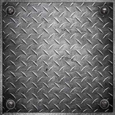 "Con-Tact Brand Floor Adorn Adhesive Decorative and Removable Vinyl Floor Appliques, Heavy Metal, 12""x12"", Set of 36 Appliques"
