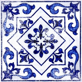 """Con-Tact Brand Floor Adorn Adhesive Decorative and Removable Vinyl Floor Tiles, Light Blue Moroccan, 12""""x12"""", Set of 36 Tiles"""