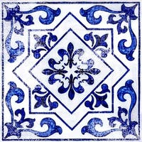 "Con-Tact Brand Floor Adorn Adhesive Decorative and Removable Vinyl Floor Tiles, Light Blue Moroccan, 12""x12"""