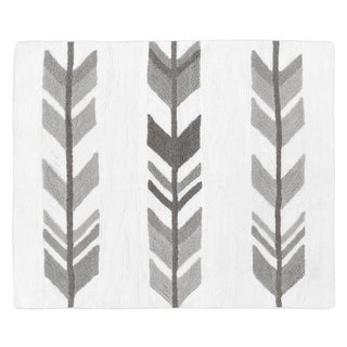 Sweet Jojo Designs Grey and White Mod Arrow Collection Accent Floor Rug (2.5' x 3')