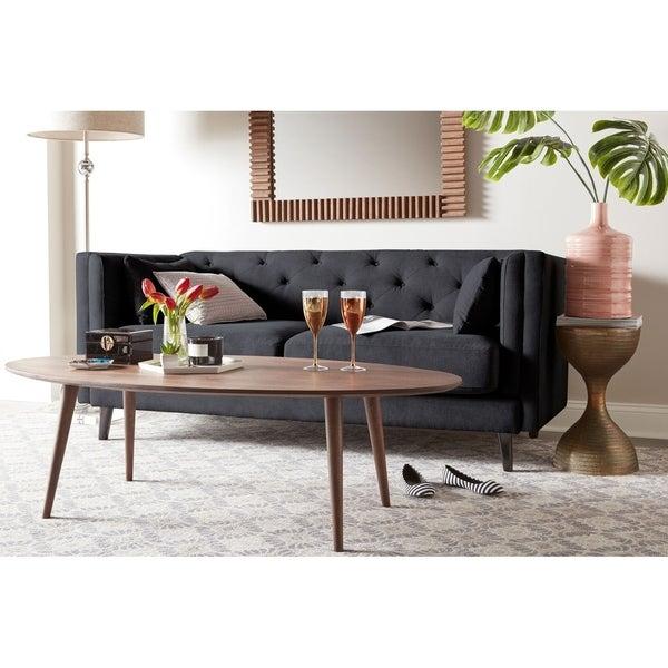 . Shop Elle Decor Celeste Tufted Sofa   Free Shipping Today