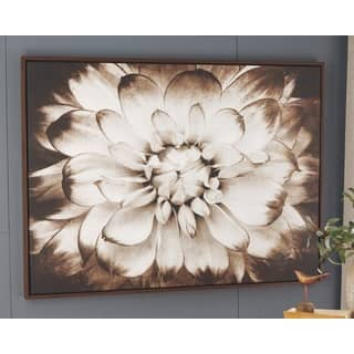 Phiala Sepia Floral Wall Art - Brown