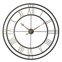 Lehman-Large Wrought Iron Gallery Clock