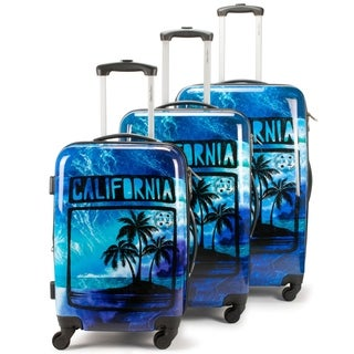 Maui and Sons 3 Piece Expandable Hardside Spinner Luggage Set, TSA lock