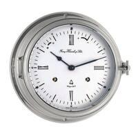 Southampton-Chrome Plated German Ships Bell Clock