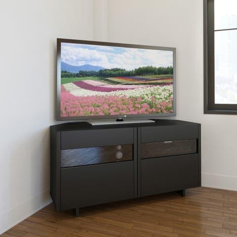 Nexera Vision 48 inch Corner TV Stand, Black