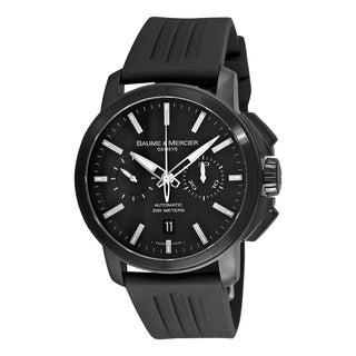 Baume & Mercier Men's MOA08853 'Classima XXL' Chronograph Automatic Black Rubber Watch