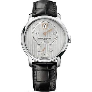 Baume & Mercier Men's MOA10039 'Classima Executives' Automatic Black Leather Watch