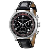 Baume & Mercier Men's MOA10042 'Capeland' Chronograph Automatic Black Leather Watch