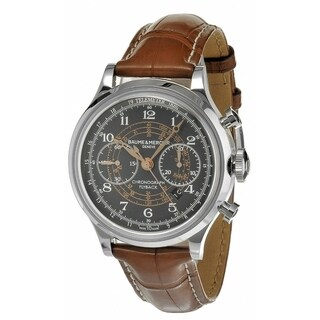 Baume & Mercier Men's MOA10068 'Capeland' Chronograph Automatic Brown Leather Watch