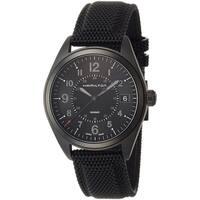 Hamilton Men's H68401735 'Khaki Field' Black Rubber and Leather Watch