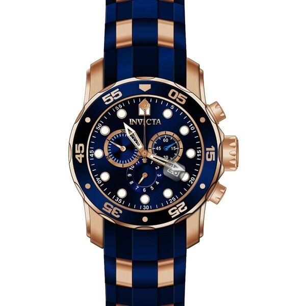 02e40c766dac Shop Invicta Men s 18197  Pro Diver  Scuba Blue and Gold-tone Polyurethane  and Stainless Steel Watch - Free Shipping Today - Overstock - 22749130