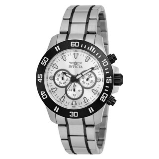 Invicta Men's 21485 'Specialty' Black and Silver Stainless Steel Watch