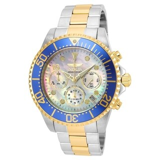 Invicta Men's 22038 'Pro Diver' Gold-tone and Silver Stainless Steel Watch