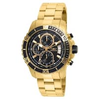 Invicta Men's 22414 'Pro Diver' Scuba Gold-tone Stainless Steel Watch