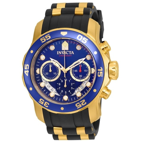 Invicta Men's 21929 'Pro Diver' Scuba Black and Gold-tone Polyurethane and Stainless Steel Watch