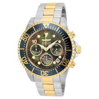 Invicta Men's 22037 'Pro Diver' Gold-tone and Silver Stainless Steel Watch