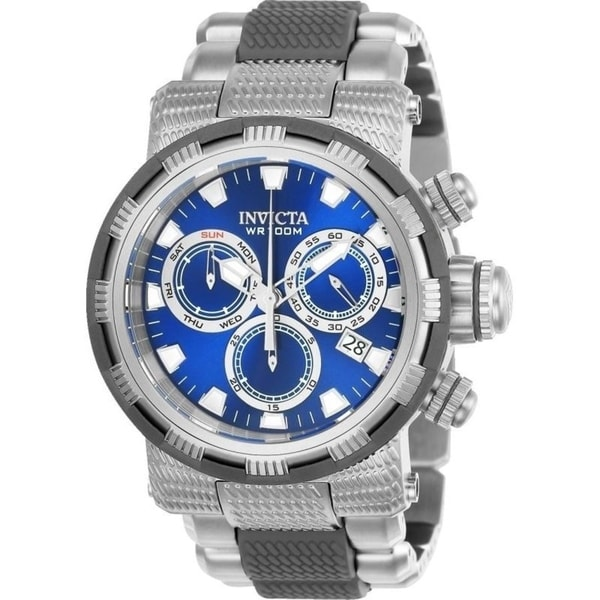 Invicta Men's 23975 'Specialty' Gunmetal and Silver Polyurethane and Stainless Steel Watch